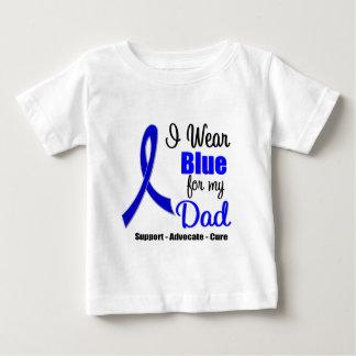 Cinta del cáncer de colon para mi papá playera de bebé