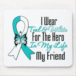 Cinta del cáncer de cuello del útero mi héroe mi a tapetes de raton