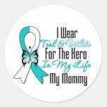 Cinta del cáncer de cuello del útero mi héroe mi m etiquetas