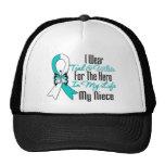 Cinta del cáncer de cuello del útero mi héroe mi s gorra