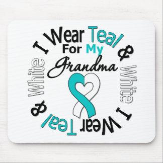 Cinta del cáncer de cuello del útero para mi abuel mousepad