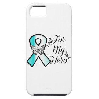 Cinta del cáncer de cuello del útero para mi héroe funda para iPhone SE/5/5s