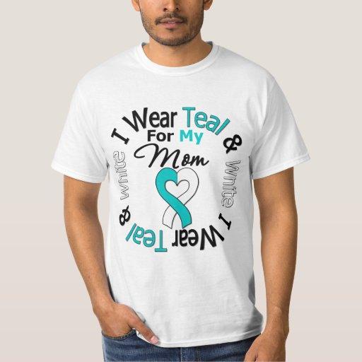 Cinta del cáncer de cuello del útero para mi mamá camisas