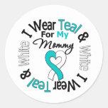 Cinta del cáncer de cuello del útero para mi mamá pegatinas