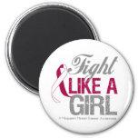 Cinta del cáncer de garganta - lucha como un chica iman