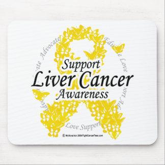 Cinta del cáncer de hígado de mariposas tapetes de ratón