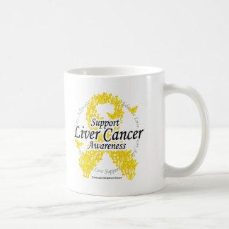 Cinta del cáncer de hígado de mariposas taza clásica