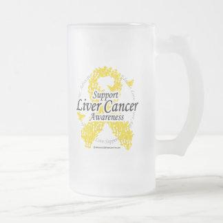 Cinta del cáncer de hígado de mariposas taza de cristal