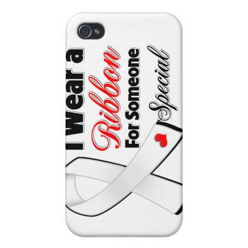 Cinta del cáncer de hueso alguien especial iPhone 4 funda