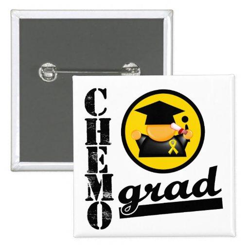 Cinta del cáncer de la niñez del graduado de Chemo Pins