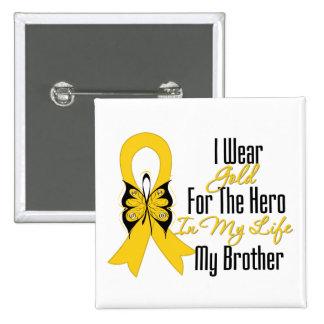Cinta del cáncer de la niñez mi héroe mi Brother Pin