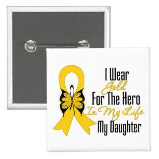 Cinta del cáncer de la niñez mi héroe mi hija pins