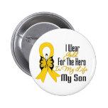 Cinta del cáncer de la niñez mi héroe mi hijo pins