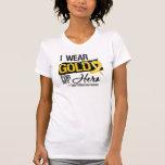 Cinta del cáncer de la niñez para mi héroe camiseta