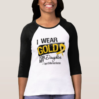Cinta del cáncer de la niñez para mi hija camisetas