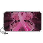 Cinta del cáncer de pecho de Think Pink Laptop Altavoz