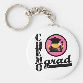 Cinta del cáncer de pecho del graduado de Chemo Llavero