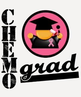 Cinta del cáncer de pecho del graduado de Chemo Camisetas