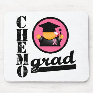 Cinta del cáncer de pecho del graduado de Chemo Tapete De Ratón