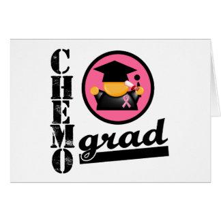 Cinta del cáncer de pecho del graduado de Chemo Tarjeton