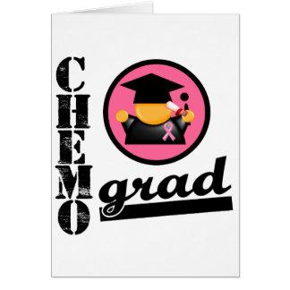 Cinta del cáncer de pecho del graduado de Chemo Tarjeta De Felicitación