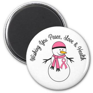 Cinta del cáncer de pecho del muñeco de nieve del imán para frigorifico