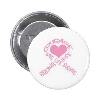 Cinta del cáncer de pecho del valor pin redondo 5 cm