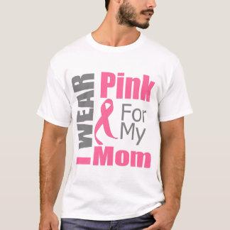Cinta del cáncer de pecho llevo a la mamá rosada playera
