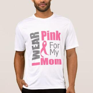 Cinta del cáncer de pecho llevo a la mamá rosada t shirt