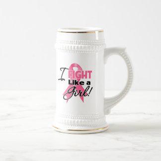 Cinta del cáncer de pecho - lucho como un chica jarra de cerveza