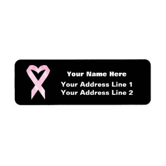 Cinta del cáncer de pecho (personalizable) etiquetas de remite