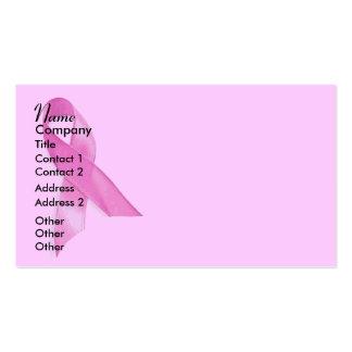 Cinta del cáncer de pecho tarjetas de visita