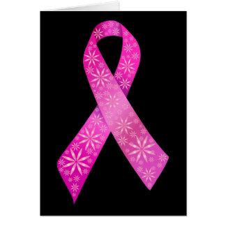 Cinta del cáncer de pecho tarjeta de felicitación