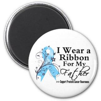 Cinta del cáncer de próstata del padre imán redondo 5 cm