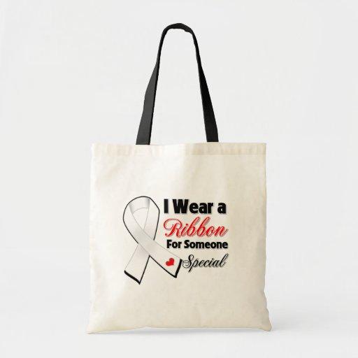 Cinta del cáncer de pulmón alguien especial bolsa