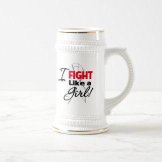 Cinta del cáncer de pulmón - lucho como un chica jarra de cerveza