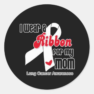 Cinta del cáncer de pulmón mamá pegatinas
