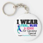 Cinta del cáncer de tiroides para alguien especial llavero personalizado