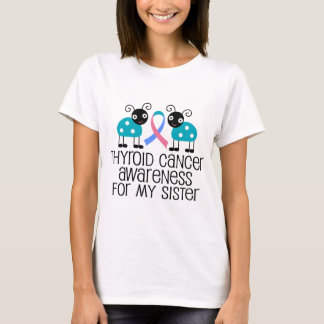 Cinta del cáncer de tiroides para mi hermana playera
