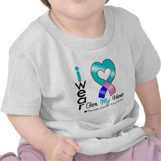Cinta del cáncer de tiroides para mi héroe camiseta