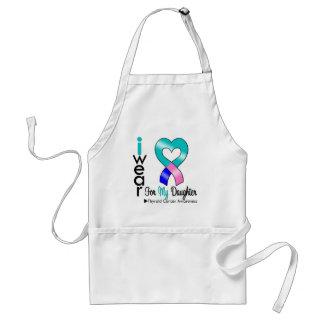 Cinta del cáncer de tiroides para mi hija delantal