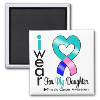 Cinta del cáncer de tiroides para mi hija iman para frigorífico