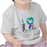 Cinta del cáncer de tiroides para mi mamá camiseta