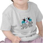 Cinta del cáncer de tiroides para mi mamá camisetas