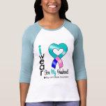 Cinta del CÁNCER de TIROIDES para mi marido Camisetas