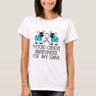 Cinta del cáncer de tiroides para mi Oma Playera
