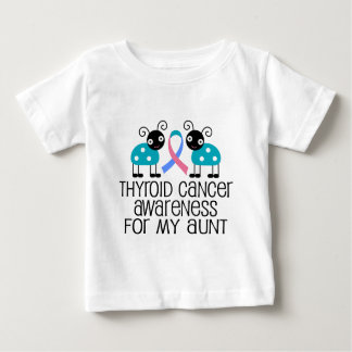 Cinta del cáncer de tiroides para mi tía playera de bebé