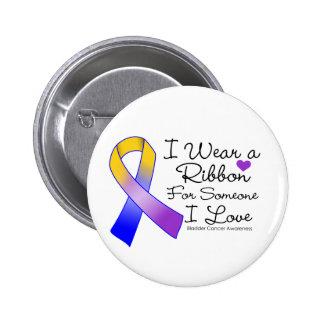 Cinta del cáncer de vejiga alguien amor de I Pin Redondo De 2 Pulgadas