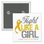 Cinta del cáncer del apéndice - lucha como un chic pin