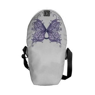 Cinta del cáncer del bígaro con las alas de la bolsa de mensajeria